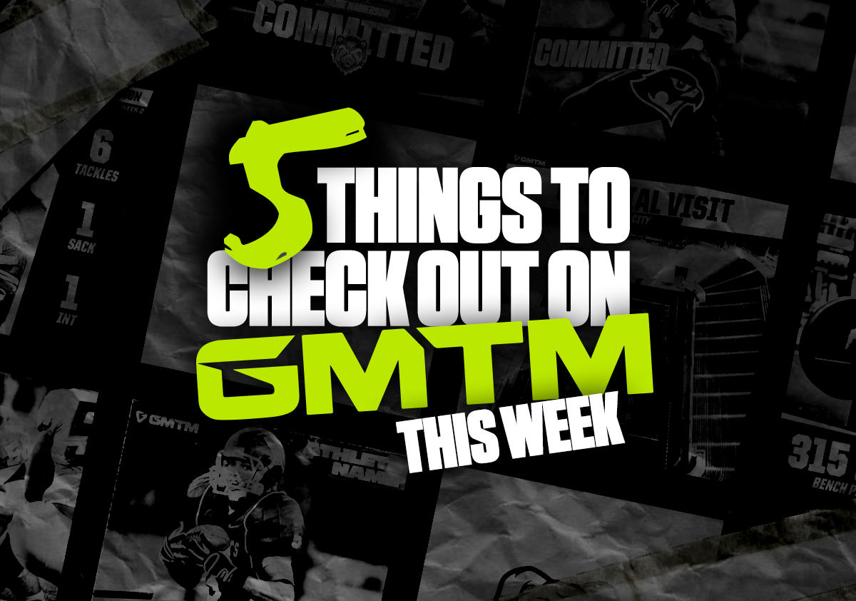 This Week: Five Things To Check Out On GMTM