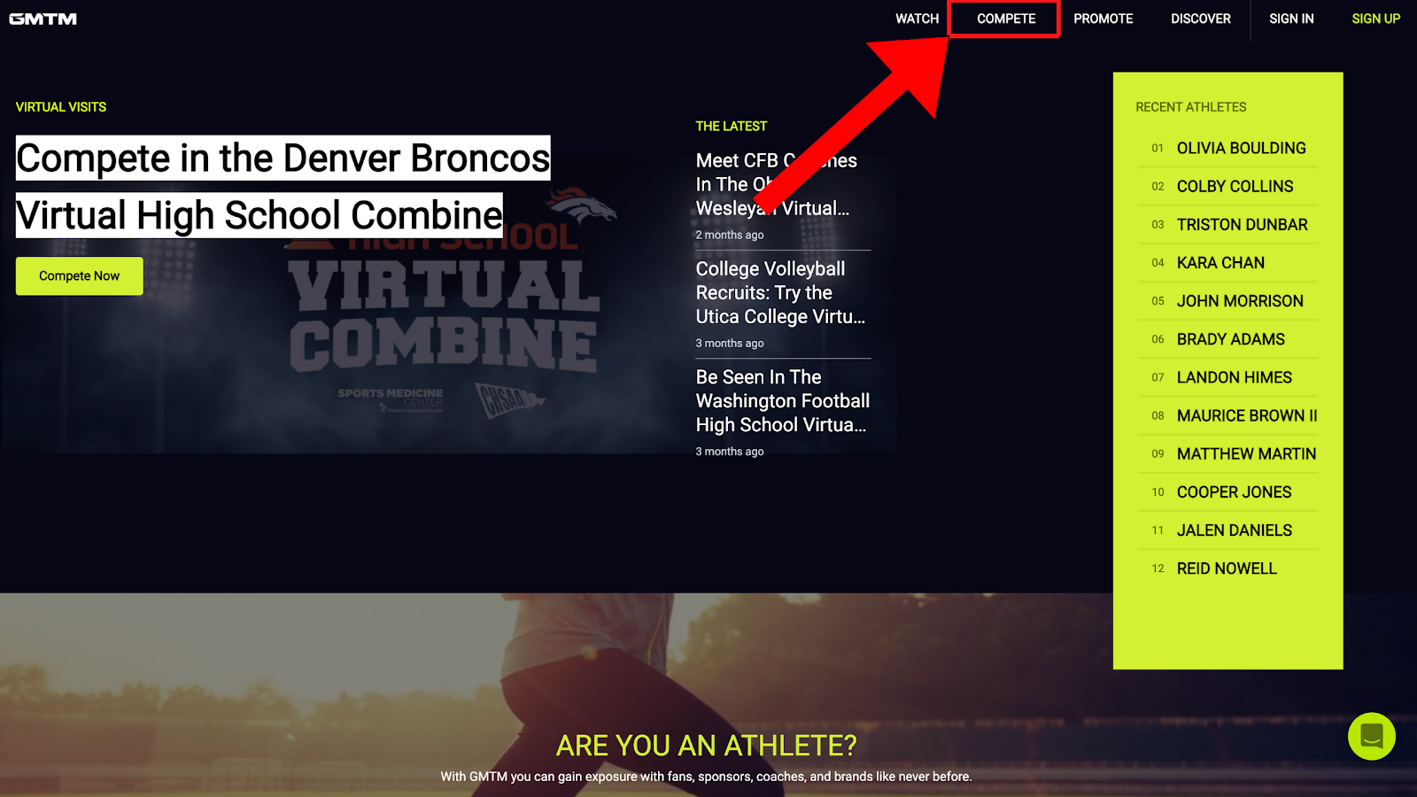 How To Participate In A Virtual Combine On GMTM