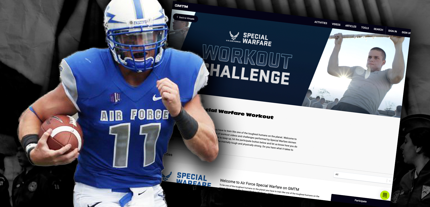 Former Air Force Captain, CFB Player on the Special Warfare Workout Challenge
