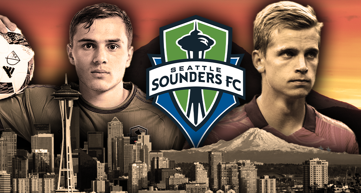 Six College Soccer Players Playing On The Seattle Sounders