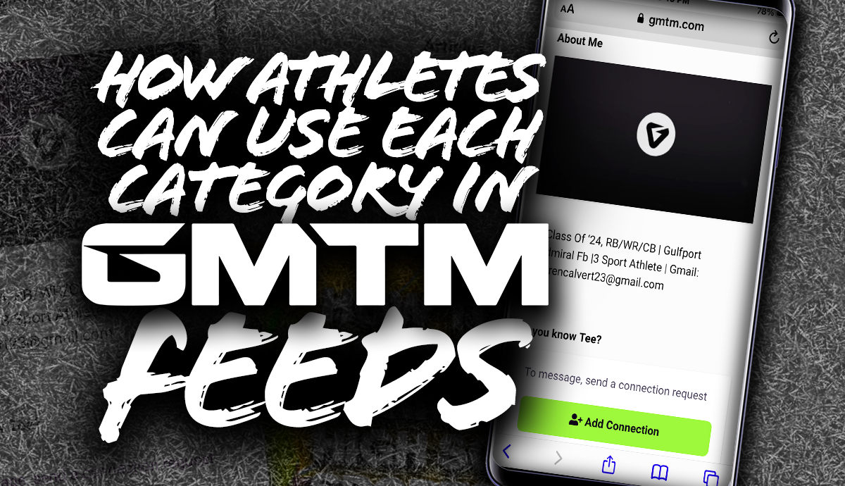 How Athletes Can Use Each Category In GMTM Feeds