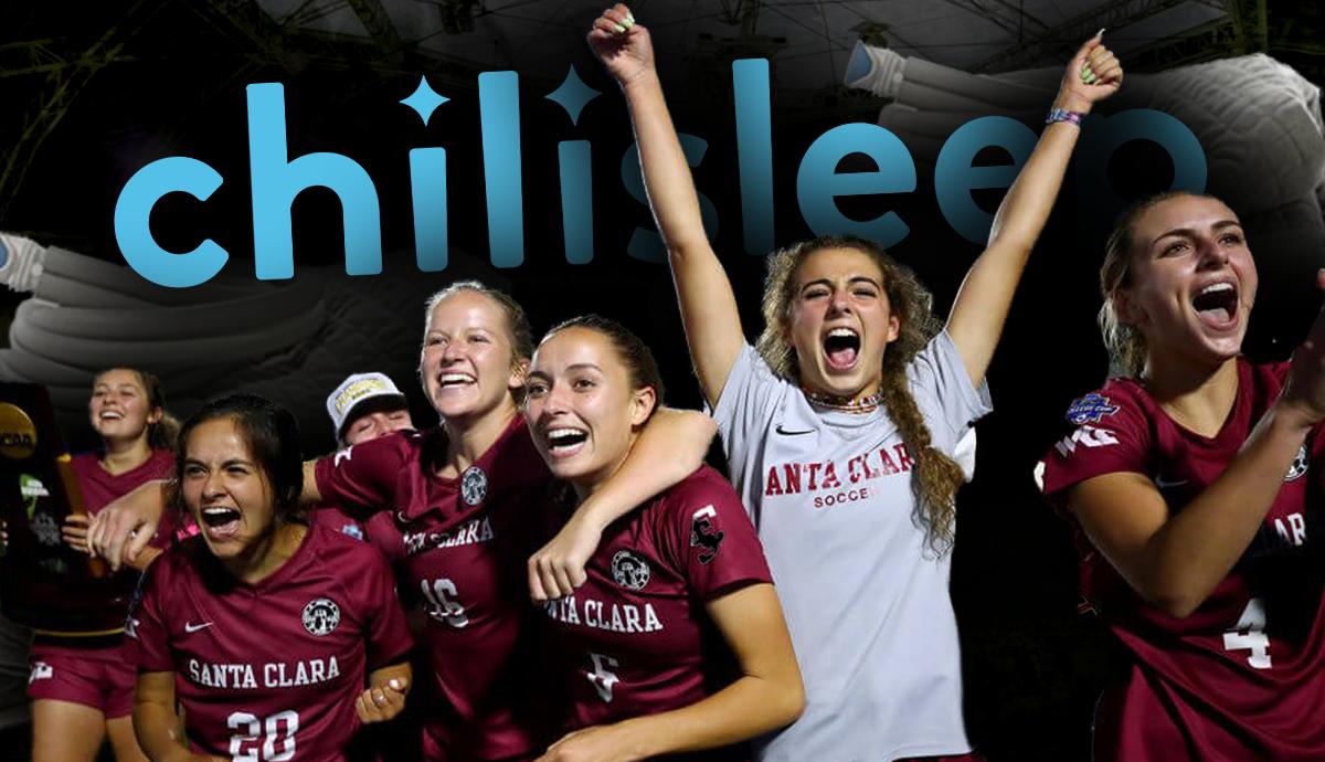 Santa Clara Women's Soccer Begins Partnership With ChiliSleep